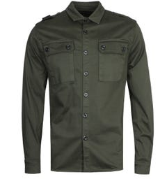 MA.Strum Two Pocket Oil Slick Green Shirt