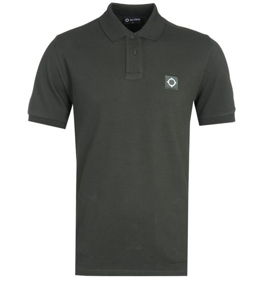 MA.Strum Cotton Pique Deep Green Polo Shirt