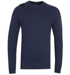 MA.STRUM Milano Navy Crew Neck Sweater