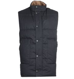 Barbour Oversized Baffle Navy Gilet