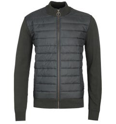 Barbour Carn Baffle Forest Green Zip Jacket