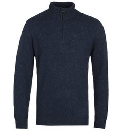 Barbour Tisbury Half Zip Navy Sweat
