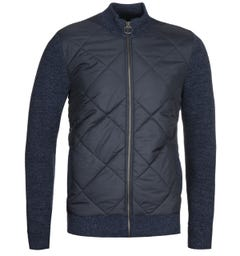 Barbour Navy Magnus Zip Through Sweater