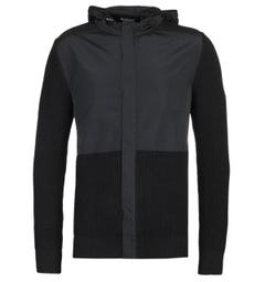 Barbour International Fuel Zip Through Black Sweater