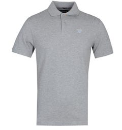 Barbour Tartan Pique Grey Marl Polo Shirt