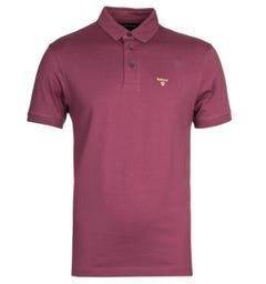 Barbour Saltire Pima Burgundy Polo Shirt