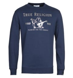 True Religion Chad Core Navy Sweatshirt