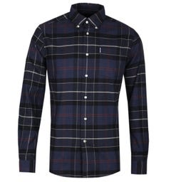 Barbour Lustleigh Navy Blue Tartan Tailored Fit Shirt