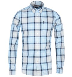 Barbour Burnside Tailored Fit Check Shirt - Blue