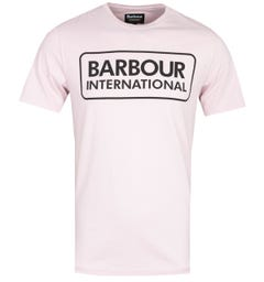 Barbour International Pink Essential Logo T-Shirt