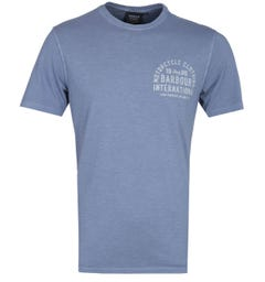 Barbour International Steel Blue Visor T-Shirt