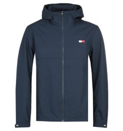 Tommy Hilfiger Navy Hooded Logo Jacket