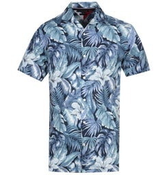 Tommy Hilfiger Navy Hawaiian Print Shirt