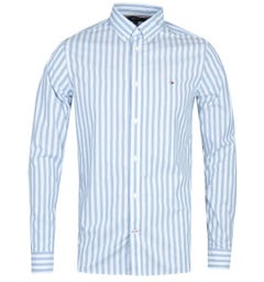 Tommy Hilfiger Slim Houndstooth Blue Shirt