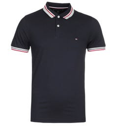 Tommy Hilfiger Jacquard Navy Slim Fit Polo Shirt