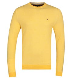 Tommy Hilfiger Pure Cotton Yellow Crew Neck Sweater