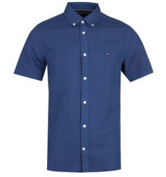 Tommy Hilfiger Slim Button Down Navy Shirt