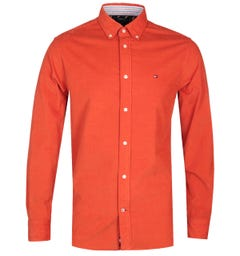 Tommy Hilfiger Flex Corduroy Orange Shirt