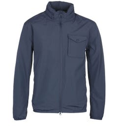 Barbour Emble Concealed Hood Navy Jacket