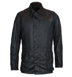 Barbour Gold Standard Supa-Ashby Navy Wax Jacket