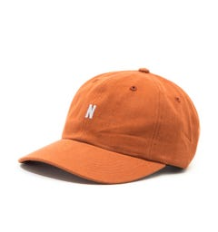 Norse Projects Cotton Twill Brown Cap