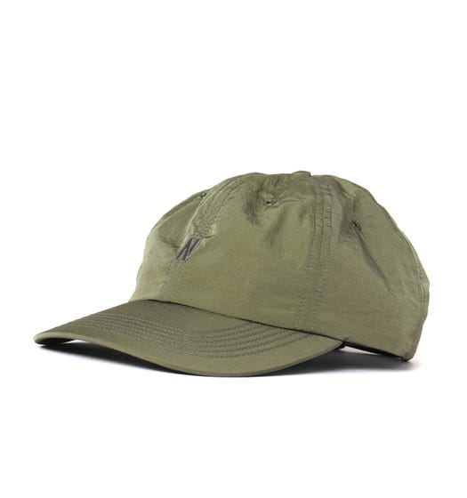 Norse Projects Nylon GMD Green Sports Cap