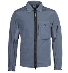 CP Company Chrome Zip-Through Blue Overshirt