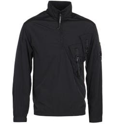 CP Company Clip Detail Lightweight Black Jacket