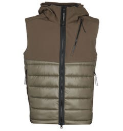 CP Company Quilted Green Gilet