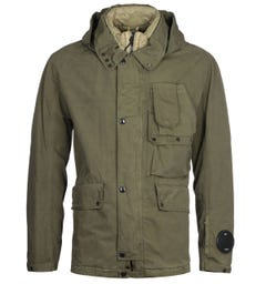 CP Company 50 Fili Rubber Mille Goggle Green Jacket