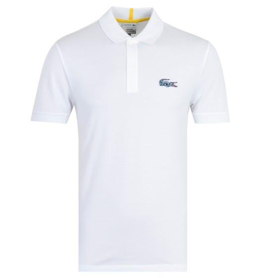 Lacoste x National Geographic White Polo Shirt