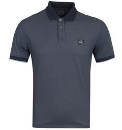 CP Company Navy Tacting Pique Short Sleeve Polo Shirt