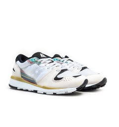 Saucony Azura White & Multi Trainers