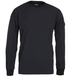 CP Company Stretch Nylon Black Crew Neck Sweatshirt