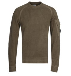 CP Company Polar Fleece Green Sweatshirt