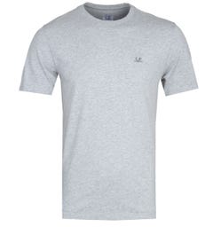CP Company Small Logo Grey Marl T-Shirt