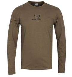 CP Company Khaki Long Sleeve T-Shirt