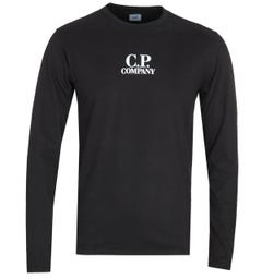 CP Company Black Long Sleeve T-Shirt