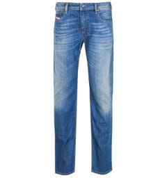 Diesel Zatiny Pantaloni Bootcut Regular Fit Medium Blue Rinse Denim Jeans