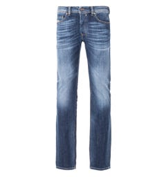 Diesel Safado Straight Fit Jeans - Faded Mid Blue