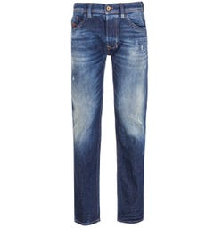 Diesel Larkee Pantaloni Straight Fit Dark Blue Fade Denim Jeans