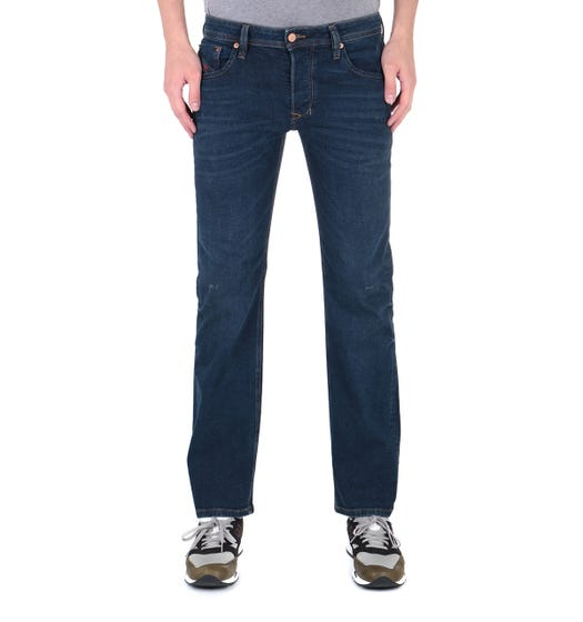 Diesel Larkee Pantaloni Straight Fit Dark Blue Denim Jeans