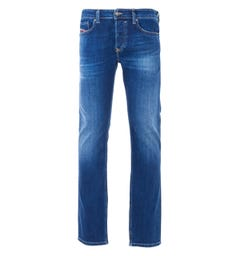 Diesel Safado Straight Fit Jeans - Faded Dark Blue