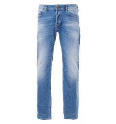 Diesel Waykee Straight Fit Jeans - Washed Blue