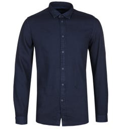 Diesel Jacq Navy Cotton Mesh Shirt