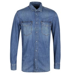 Diesel D-Rooke Blue Denim Shirt