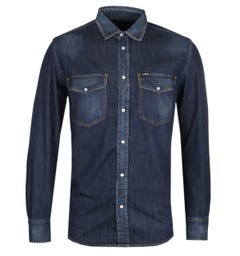 Diesel D-Rooke Dark Blue Denim Shirt