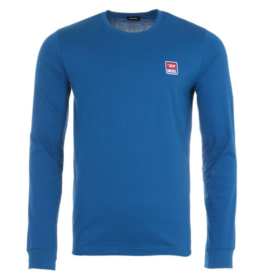 Diesel T-Diego Division Long Sleeve T-Shirt - Blue