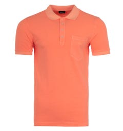 Diesel T-Kal Acid Wash Polo Shirt - Orange