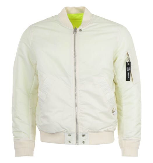 Diesel J-Ross Reversible Bomber Jacket - White